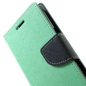 Fancy PU kožené puzdro pre Samsung Galaxy Core Prime - azúrové - 7