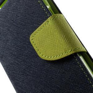 Fancy PU kožené puzdro pre Samsung Galaxy Core Prime - tmavomodré - 7