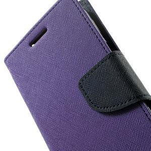 Fancy PU kožené pouzdro na Samsung Galaxy Core Prime - fialové - 7