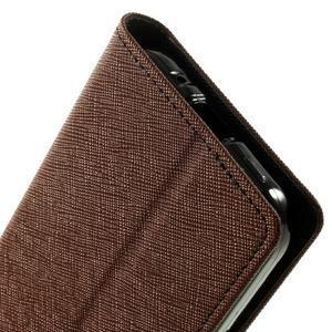 Fancy PU kožené pouzdro na Samsung Galaxy Core Prime - hnědé/černé - 7
