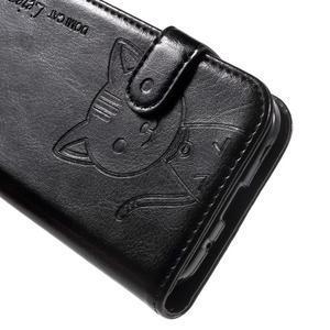 Kočička Domi pouzdro na Samsung Galaxy Core Prime - černé - 7