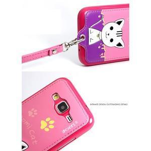 Mačička Domi obal pre mobil Samsung Galaxy Core Prime - rose - 7