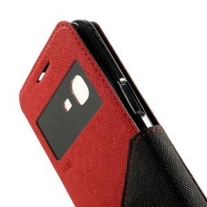 Safety puzdro s okienkom pre Samsung Galaxy Grand Prime - červené - 7
