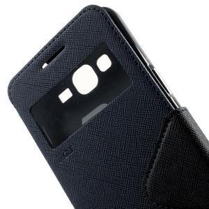 Safety puzdro s okienkom pre Samsung Galaxy Grand Prime - tmavomodré - 7
