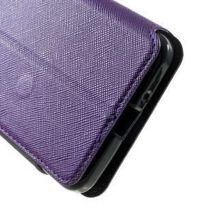Safety puzdro s okienkom pre Samsung Galaxy Grand Prime - fialové - 7