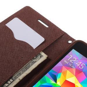 Diary PU kožené puzdro pre mobil Samsung Galaxy Grand Prime - čierne/hnedé - 7