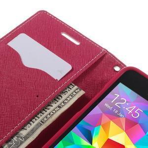 Diary PU kožené puzdro na mobil Samsung Galaxy Grand Prime - ružové - 7
