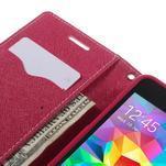 Diary PU kožené puzdro na mobil Samsung Galaxy Grand Prime - ružové - 7/7