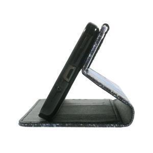 Wallet PU kožené puzdro na mobil Samsung Galaxy Grand Prime - modrý motýľ - 7