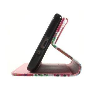 Wallet PU kožené puzdro na mobil Samsung Galaxy Grand Prime - sovičky - 7