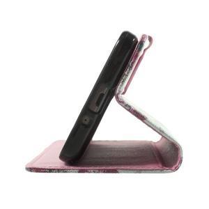 Wallet PU kožené puzdro pre mobil Samsung Galaxy Grand Prime - kvietky - 7