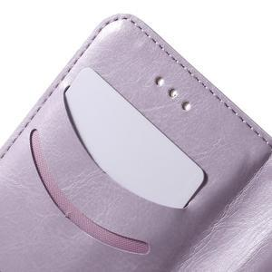 Koženkové puzdro s mačičkou Domi na Samsung Galaxy J1 - fialové - 7