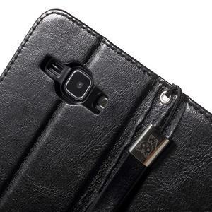 Koženkové puzdro s mačičkou Domi na Samsung Galaxy J1 - čierne - 7