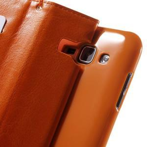 Koženkové puzdro s mačičkou Domi na Samsung Galaxy J1 - oranžové - 7