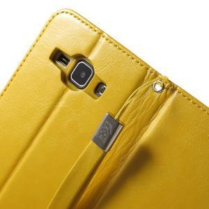 Koženkové puzdro s mačičkou Domi na Samsung Galaxy J1 - žlté - 7
