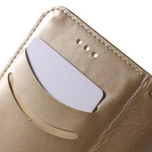 Koženkové puzdro s mačičkou Domi pre Samsung Galaxy J1 - zlaté - 7