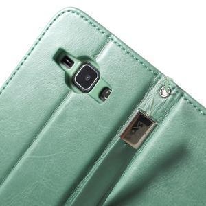 Koženkové puzdro s mačičkou Domi na Samsung Galaxy J1 - zelené - 7
