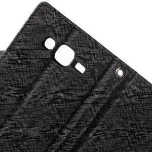 Diary štýlové peňaženkové puzdro pre Samsung Galaxy J5 - čierne - 7