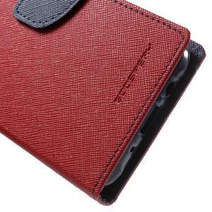 Diary štýlové peňaženkové puzdro pre Samsung Galaxy J5 -  červené - 7