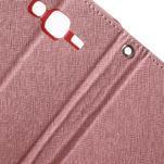 Diary štýlové peňaženkové puzdro pre Samsung Galaxy J5 -  ružové - 7/7