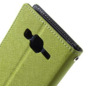 Diary štýlové peňaženkové puzdro pre Samsung Galaxy J5 -  zelené - 7