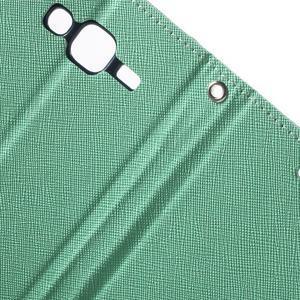 Diary štýlové peňaženkové puzdro pre Samsung Galaxy J5 -  azúrové - 7