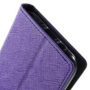 Diary štýlové peňaženkové puzdro pre Samsung Galaxy J5 -  fialové - 7