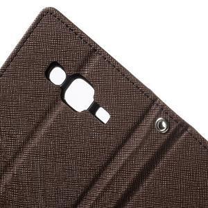 Diary štýlové peňaženkové puzdro na Samsung Galaxy J5 -  hnedé - 7