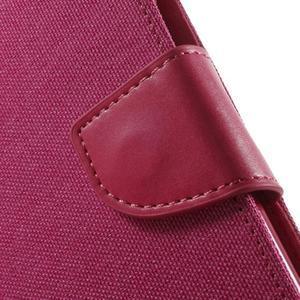 Luxury textilné/pu kožené puzdro pre Samsung Galaxy J5 - rose - 7