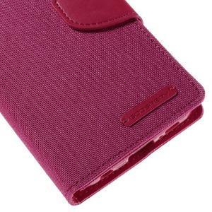 Luxury textilné / koženkové puzdro pre Samsung Galaxy S6 Edge - rose - 7