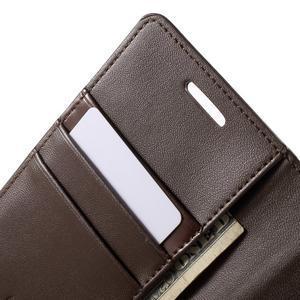 Wallet PU kožené puzdro pre Samsung Galaxy S6 Edge G925 -  tmavohnedé - 7