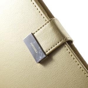 Wallet PU kožené puzdro na Samsung Galaxy S6 Edge G925 - champagne - 7
