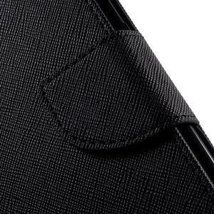 Diary PU kožené puzdro na Samsung Galaxy S6 Edge - čierne - 7