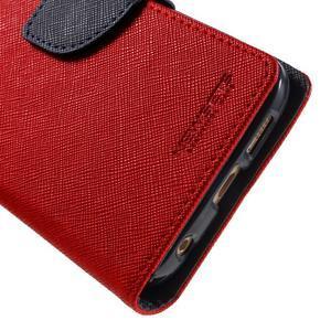 Diary PU kožené puzdro pre Samsung Galaxy S6 Edge - červené - 7