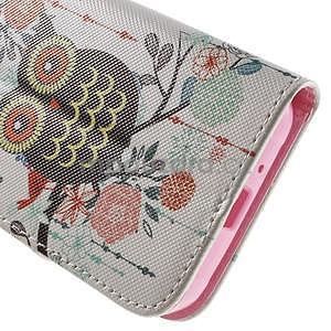Vzorové peňaženkové puzdro na Samsung Galaxy Xcover 3 - sova - 7
