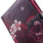 Vzorové peňaženkové puzdro na Samsung Galaxy Xcover 3 - srdce - 7/7