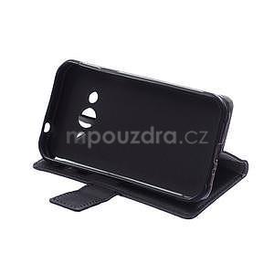 Peňaženkové pu kožené puzdro na Samsung Galaxy Xcover 3 - čierne - 7
