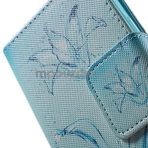Vzorové peňaženkové puzdro pre Samsung Galaxy Xcover 3 - vodný kvet - 7