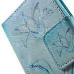 Vzorové peňaženkové puzdro pre Samsung Galaxy Xcover 3 - vodný kvet - 7/7