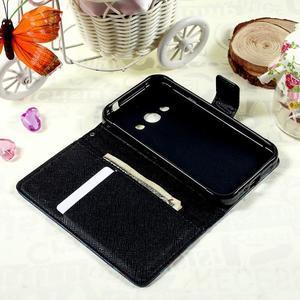Štýlové peňaženkové puzdro pre Samsung Galaxy Xcover 3 - modrý motýľ - 7