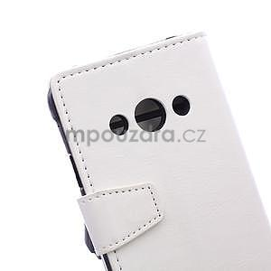 Biele koženkové puzdro Samsung Galaxy Xcover 3 - 7
