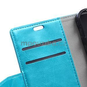Modré koženkové puzdro Samsung Galaxy Xcover 3 - 7