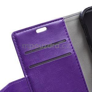 Fialové koženkové puzdro Samsung Galaxy Xcover 3 - 7