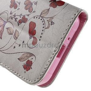 Vzorové peňaženkové puzdro na Samsung Galaxy Xcover 3 - červené kvety - 7
