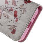 Vzorové peňaženkové puzdro na Samsung Galaxy Xcover 3 - červené kvety - 7/7