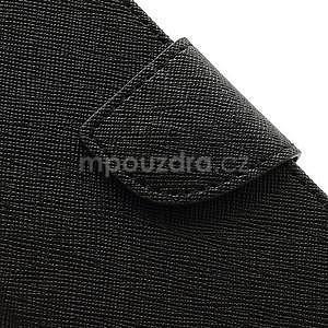 PU kožené peňaženkové puzdro pre Samsung Galaxy S4 mini - čierne - 7