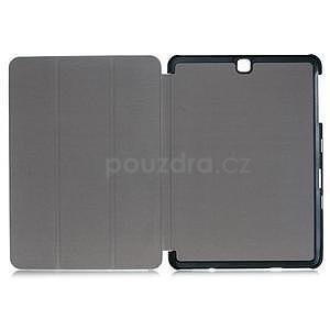 Trifold polohovateľné púzdro na Samsung Galaxy Tab S2 9.7 - tmavomodré - 7