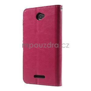 PU kožené pěněženkové pouzdro na mobil Sony Xperia E4 - rose - 7