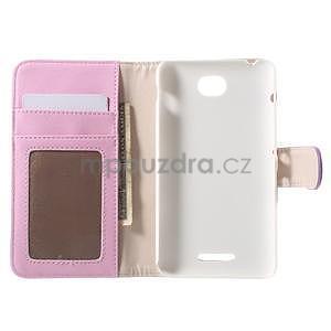 Koženkové puzdro pre Sony Xperia E4 - fialové - 7