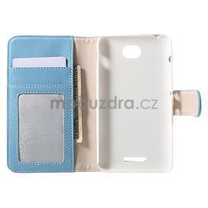 Koženkové pouzdro pro Sony Xperia E4 - světle modré - 7